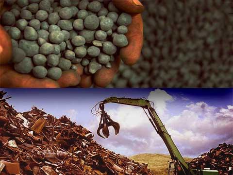 مزایای مصرف آهن اسفنجی نسبت به آهن قراضه